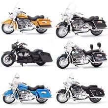 1/18 escala maisto flhr estrada rei diecast modelo rua bob motocicleta cruiser k modelo touring noite trem bicicleta fuga duo brinquedos