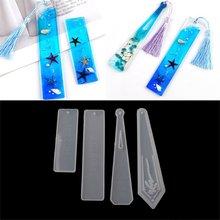 4 шт diy закладки смолы формы силиконовые для ювелирных изделий