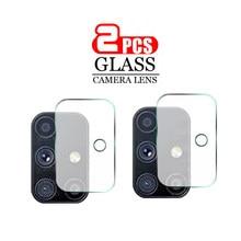 Protecteur d'écran pour objectif d'appareil photo, 2 pièces, en verre trempé pour Samsung Galaxy M51s, pour Samsung m51 51M/DSN M515f