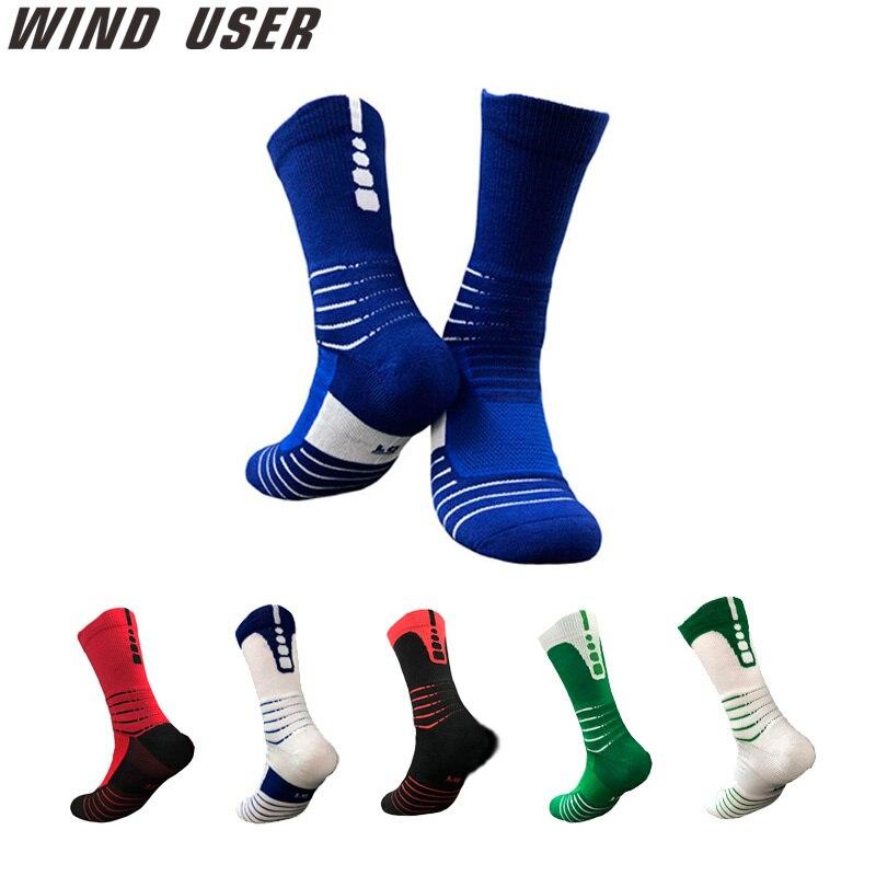 Супер элитные мужские спортивные носки для верховой езды, велоспорта, баскетбола, бега, спортивные носки, летние походные теннисные лыжные ...
