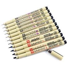 Pen-Pens Ink-Marker-Pen Pigment-Liner Different-Tip Sketching-Brush Black 1pcs