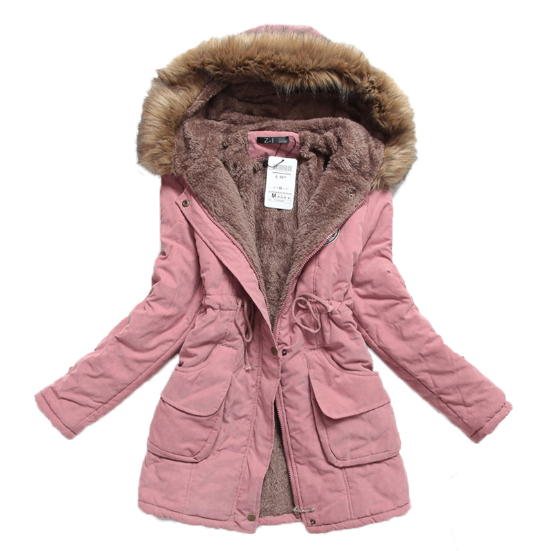 new winter women jacket medium-long thicken plus size 4XL outwear hooded wadded coat slim parka cotton-padded jacket overcoat 2