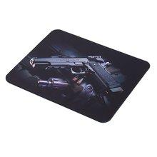 3D pistol pattern Pattern Laptop Computer Anti-SlipMouse Pad Mat Mousepad For Optical Laser Mouse Waterproof table mat 22cm*18cm
