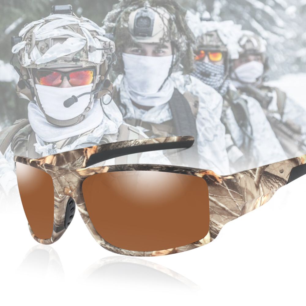 POLARSNOW <font><b>2020</b></font> New Camo Frame Polarized Sunglasses High Quality Goggle Men Women Sun Glasses UV400 Eyewear Oculos masculino image