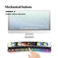 Altavoz inalámbrico con Bluetooth para juegos, Subwoofer con barra de sonido de 2021 mAh, USB, 3D, reloj estéreo, barra de sonido AUX FM, altavoz, gran oferta, 3600