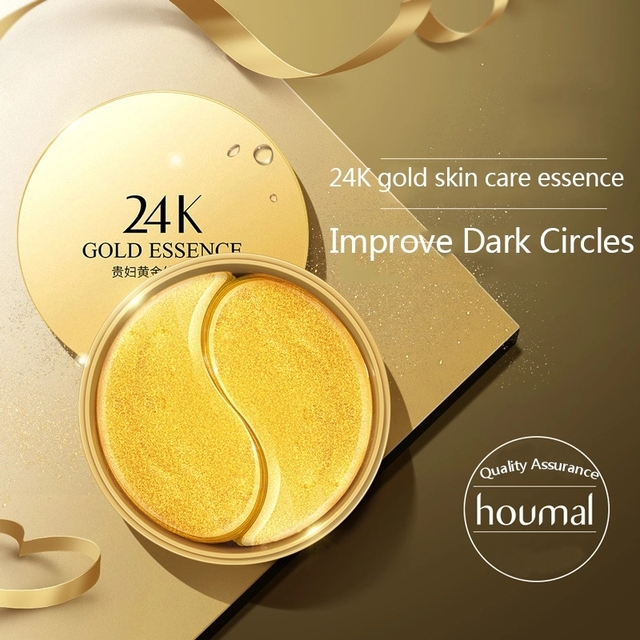 60pcs 24K Gold Collagen Eye Mask Anti Wrinkle Sleep Crystal Eye Patch Moisturizing Dark Circles Remover Eye Mask Eye Care 3