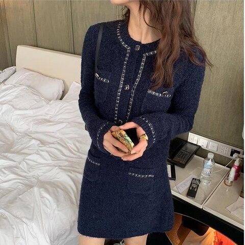 2 Pieces Sets Spring Autumn Fashion Women Cashmere Sweater SkirtsSuits Elegant Slim Lady Fashion Suit set Pakistan