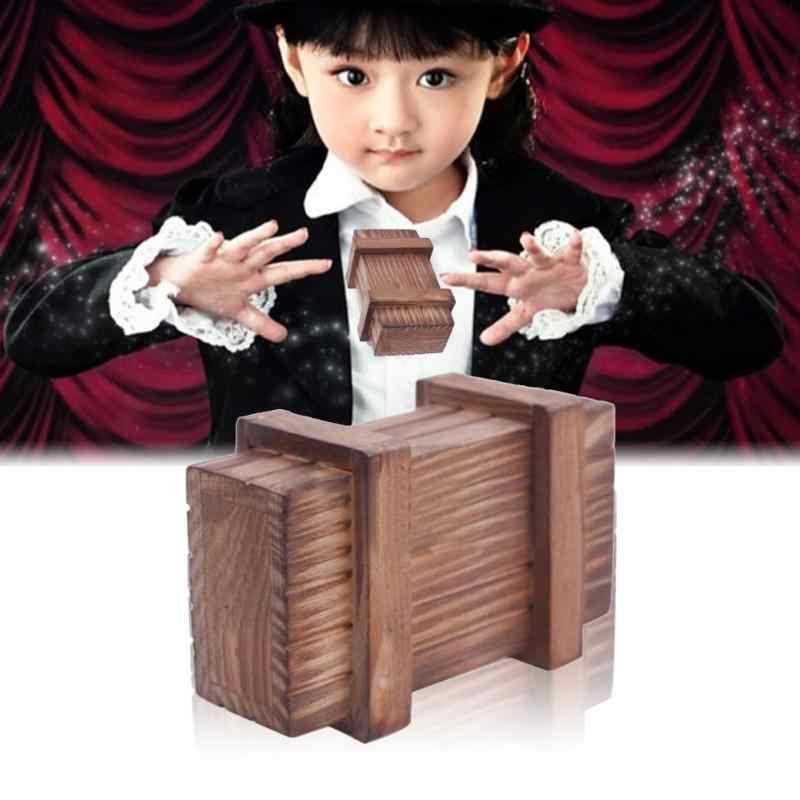 Compartimento mágico rompecabezas de madera caja rompecabezas de madera truco secreto divertido rompecabezas de Madera Juguetes regalos cerebro Teaser lógica niños magia