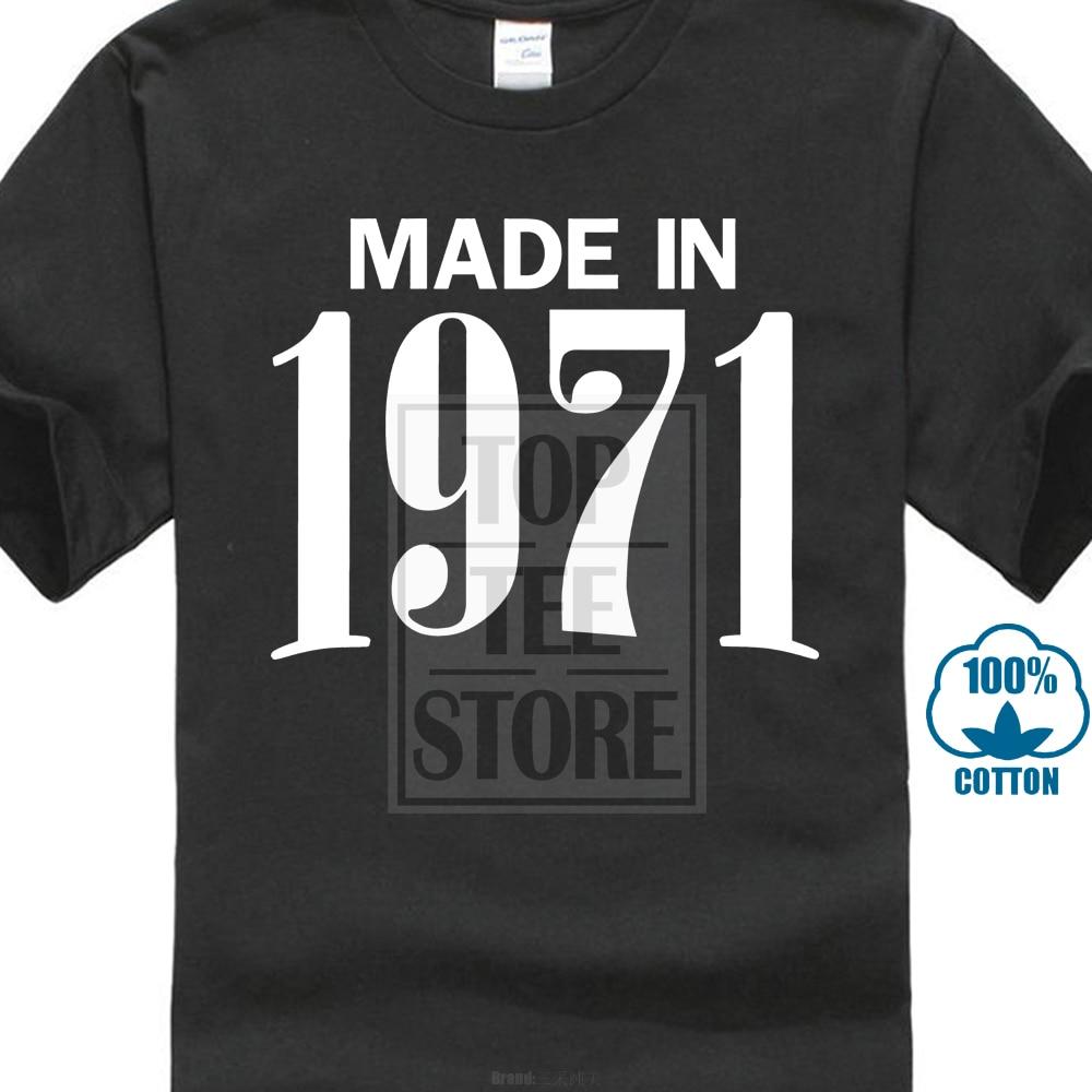 Humor Мужская футболка с короткими рукавами, сделано в 1975-ом ретро стиле, подарок на 45-й день рождения, крутая футболка, подарок на день рождения, Милая футболка для влюбленных, 021674
