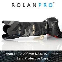 Линзы rolanpro камуфляжное пальто дождевик для Canon EF 70-200 мм F2.8 L IS III USM объектив защитный чехол для Canon SLR объектив камеры