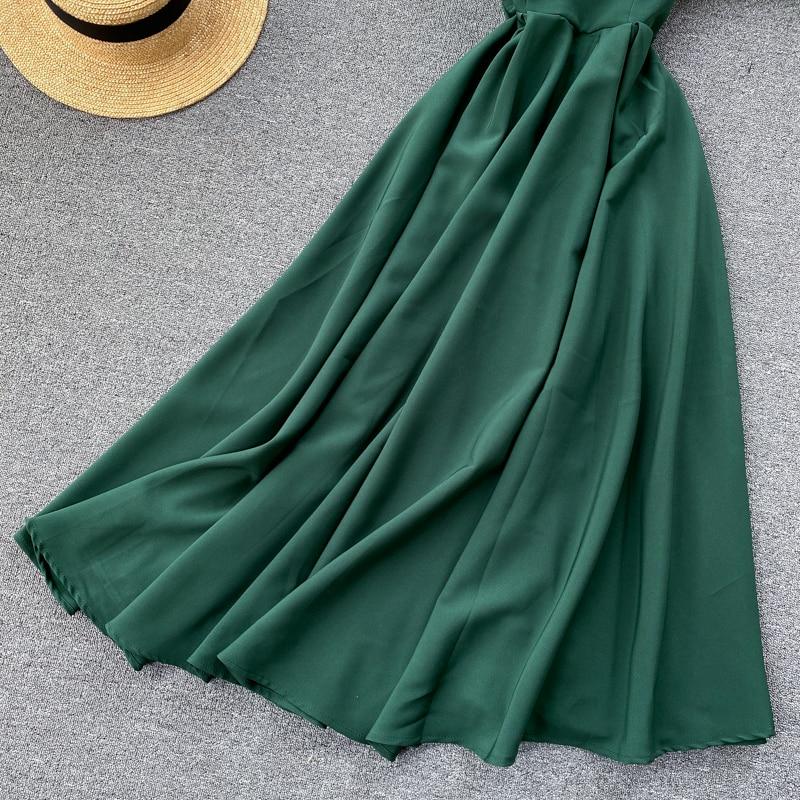 Elegant Vintage Sleeveless V-Neck Bandage Dress 22
