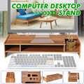 2-Tier Holz Regal Sockel Multi-funktion Desktop Monitor Stand Computer Bildschirm Riser Laptop Ständer Halter Für Notebook TV