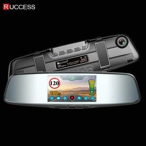 Image 5 - Ruccess Mirror Recorder Car Radar Detector for Russia Full HD 1080P Dual Lens Camera Registrar 3 in 1 DVR Anti Radar with GPS