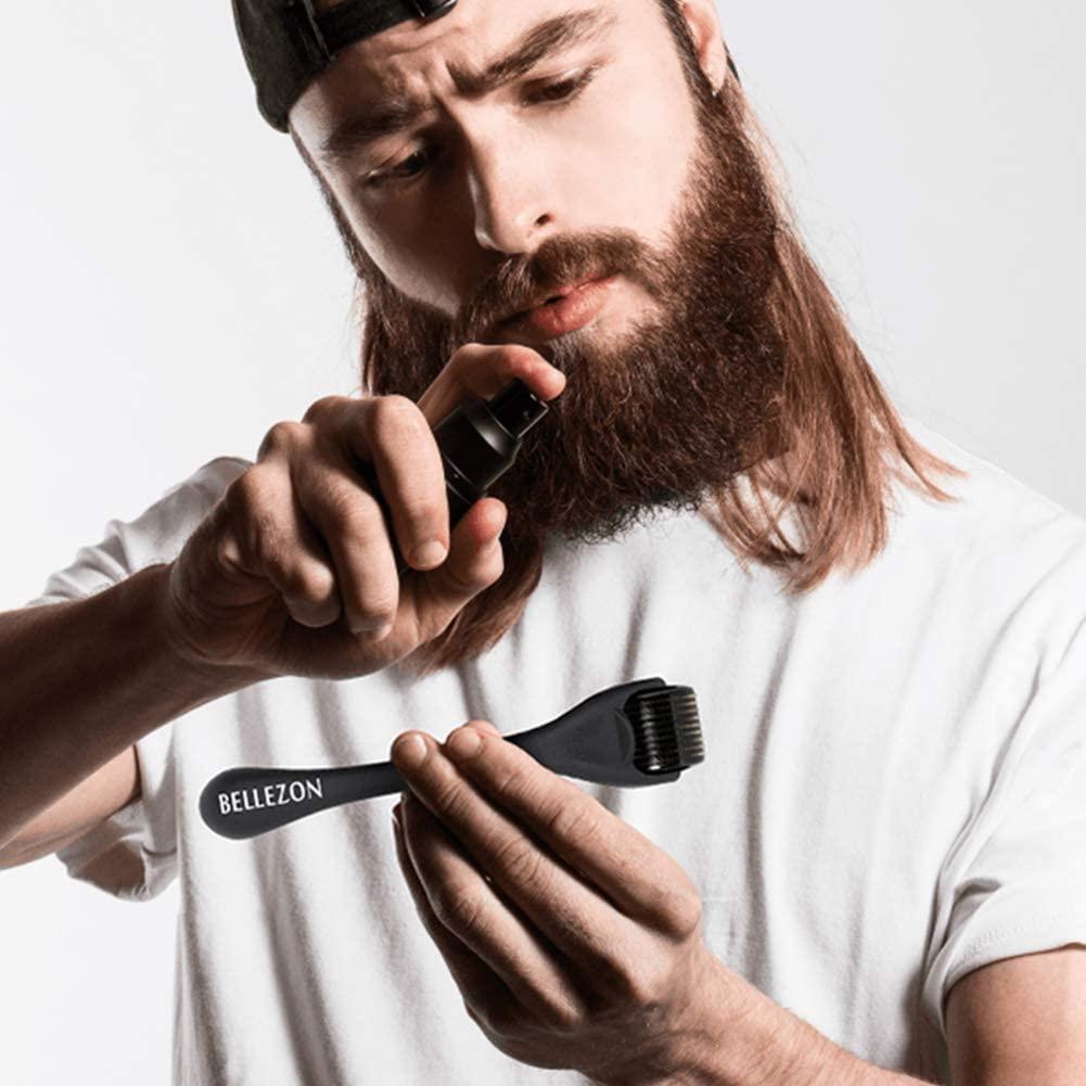 Bellezon 4Pcs/set Beard Growth Kit Hair Growth Enhancer