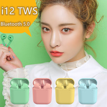 i12 tws Bluetooth Earphone Wireless Earbuds Hands free Earpieces Sport Headset Suitable for any smartphone  3D stereo sound