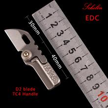 Mini narzędzie prezent urodzinowy scyzoryk narzędzia wielofunkcyjne składane noże edc diy noże myśliwskie filet ryby outdoor camping tanie tanio schelin Woodworking CN (pochodzenie) STAINLESS STEEL T-515