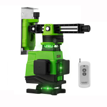 4D 16 Lines Lithium battery laser level  360 Vertical And Horizontal Self-leveling Cross Line with remote control/2 in 1bracket