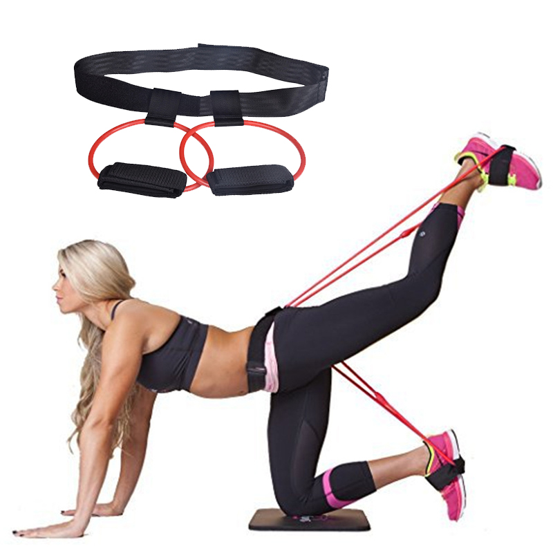Fitness Booty Butt Training Band Adjustable Waist Belt Pedal Exerciser Resistance Bands For Glutes Legs Muscle Workout