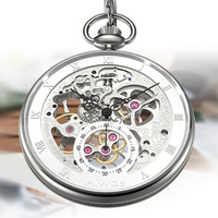 BRAND TOP CLASSIC RETRO COLLECTOR'S EDITION MECHANICAL HOLLOW PERSPECTIVE WINDOW POCKET WATCH HIGH QUALITY LUXURY POCKET WATCH