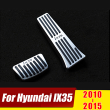 цена на For Hyundai IX35 2010 2011 2012 2013 2014 2015 AT Aluminium Car Styling Accelerator Pedal Brake Pedals Cover Case Accessories