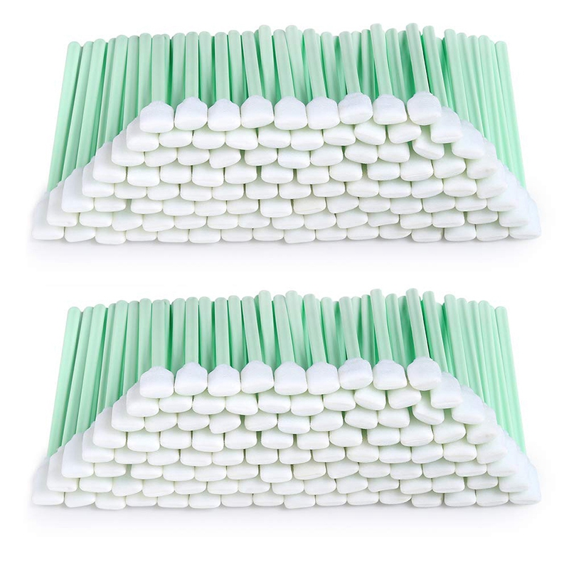 200Pcs 5.11 Inch Square Rectangle Foam Cleaning Swab Sticks For Solvent Format Inkjet Printer Roland Optical Equipment