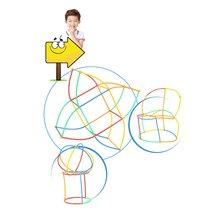 100 шт детский пластиковый конструктор «солома»