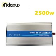 цена на Off Grid Solar power Inverter converter 2500Watt/5000W peaking 12/24/48VDC to 110/220V Pure Sine Wave ship from sao paulo brazil