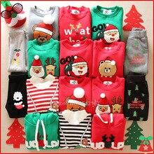 Рождественские свитера для всей семьи, 14 цветов, рождественские худи, зимний теплый свитер на меху с вышивкой Санта Клауса и лося для мамы и детей, новогодний свитер
