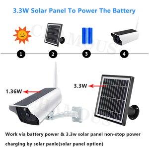 Image 2 - 1080P ip камера на солнечной батарейке 2MP беспроводная Wi Fi батарея охранное Наблюдение Водонепроницаемая наружная камера двухстороннее аудио видео регистратор
