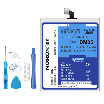 NOHON Battery For Xiaomi Mi 5 5S 4C Redmi Note 2 3 BM35 BM36 BM22 BM45 BM46 Replacement Phone Bateria High Capacity + Free Tools
