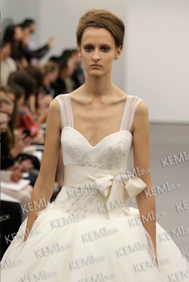 Free Shipping Robe De Soiree 2016 New Hot Fashion Casamento Tulle Vestidos De Festa Bow Belt Lace Wedding Dresses Bridal Gown
