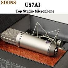 U87ai microfone de estúdio superior, u87 microfone vocal condensador profissional, microfone supercardióide de alta qualidade 87ai