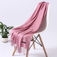 Cashmere-Scarf Foulard Pashmina Tassels Hijab Neck-Scarves Women Shawls Wraps Soft Long