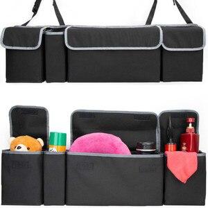 Image 2 - Car Organizer Trunk Backseat Adjustable Storage Bag Net High Capacity Multi use Oxford Back Interior Accessories Automobile Seat