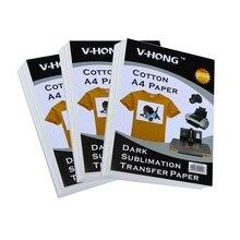A4 size sublimation paper T-shirt cotton textile heat transfer printing paper цены