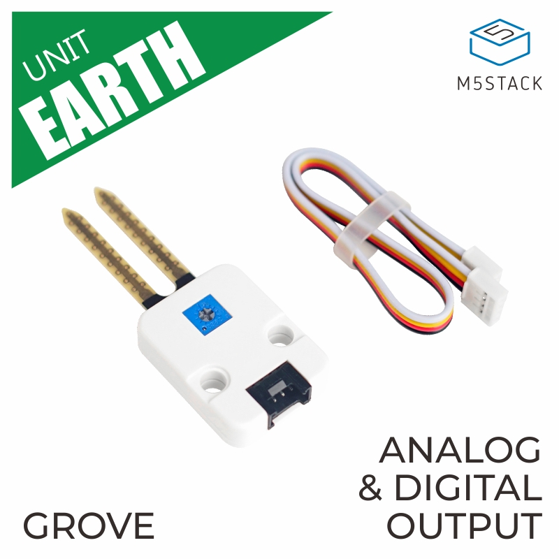 M5Stack Official Earth Module Grove Compatible Soil Monitoring Analog And Digital Output