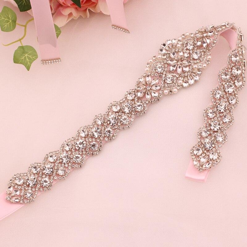 Wedding dress belt ladies belt bridal belt pearl rhinestone belt evening dress belt wedding accessories