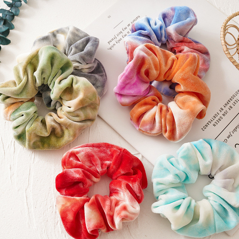 Ruoshui Woman Colorful Hair Ties Scrunchies Girls Rubber Band Women Ponytail Holders Fashion Hair Accessories Headwear Ornament