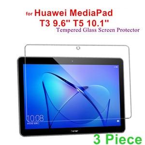 Защитное стекло из 3 предметов для Huawei MediaPad T3 10 AGS-W09/AGS-L09 9,6 дюйма, защитная пленка для Huawei Mediapad T5 10 AGS2-W09/L09