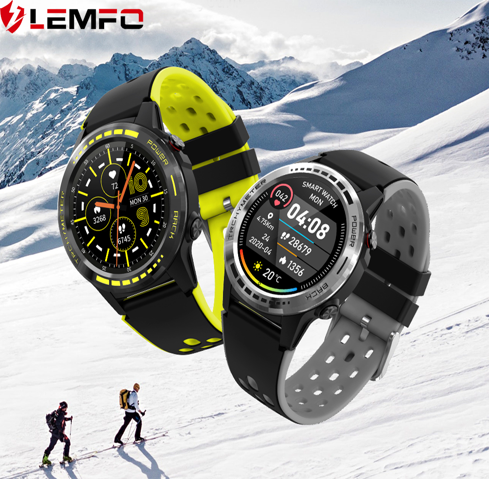 LEMFO Smartwatch for Huawei GT GPS Music Control Play Support SIM Card  Information ReminderSmart Watch Men Android or IOS