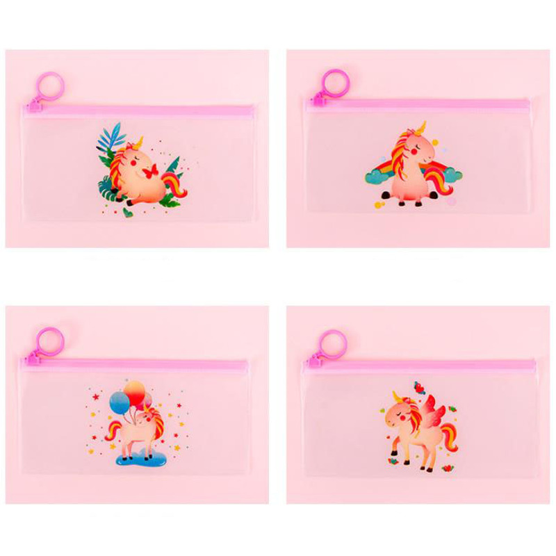 Unicorn Pen Case Korean Bag Pencil Case Pen Bag Kawaii Bag Staionary Student Pencil Pouch Staionary Novelty School Supplies