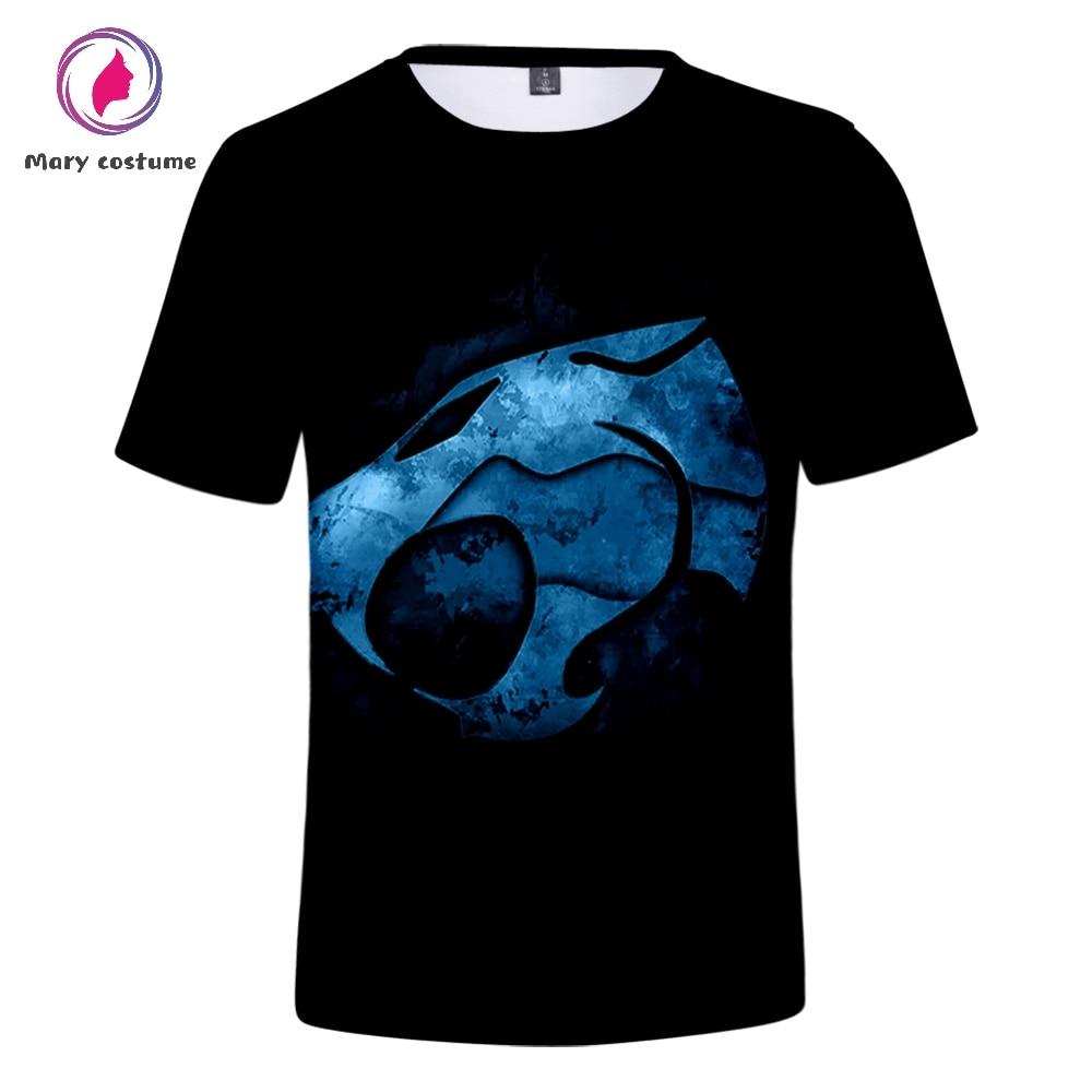 ThunderCats tshirt Men 3D Polyester Summer Short-sleeved T-shirt 2019 Hot Men Trend Casual T-shirt crop top