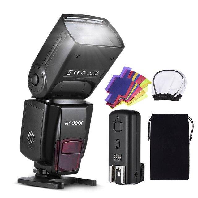 Andoer AD560 IV Pro 온 카메라 스피드 라이트 플래시 라이트 플래시 트리거 컬러 필터 캐논 니콘 소니 카메라 용 디퓨저 핫슈