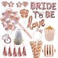 Hochzeit Dekorationen Rose Gold Braut Zu Werden Brief Folie Ballon Braut Schleier Schärpe Stirnband Braut Dusche Bachelorette Party Liefert
