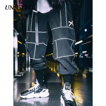 UNSETTLE Harajuku Hose Jogger Hip Hop Reflektierende Japanischen hosen Streetwear Dünne Sweatpant Hosen