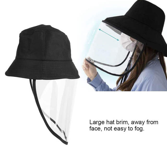 Protective Face Shield Protective Sunproof Fisherman's  Hats with Anti-Saliva Transparent Face Shield Protection Equipment