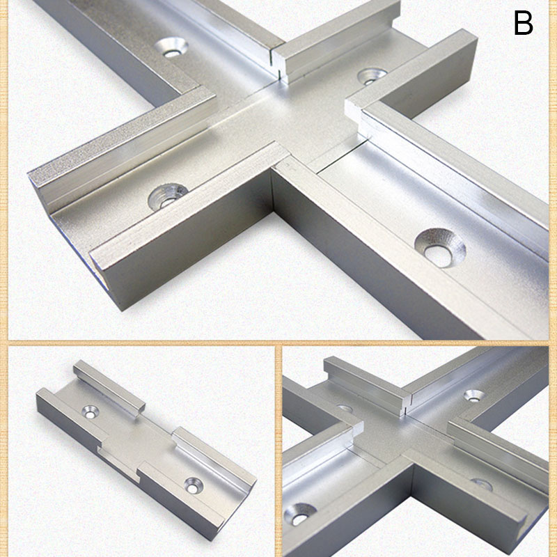 200mm Cross T-track Connector Set 30 Type T-slot Miter Track Jig Fixture Slot Connector MF999