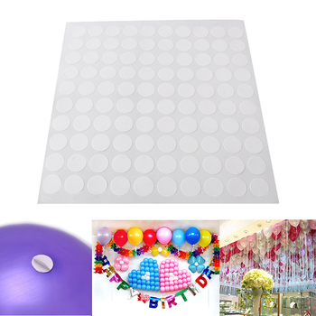 100pcs Balloons Glue Adhesive Wedding Birthday Party Decoration Fixed Clip Ballon Dot Super Sticky Point Double Sided Stick Tape image