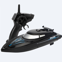 New RC Boat 2.4 Ghz Remote Control Speedboat Kids Toy High Speed Racing Ship Rechargeable Batteries For Children Gift
