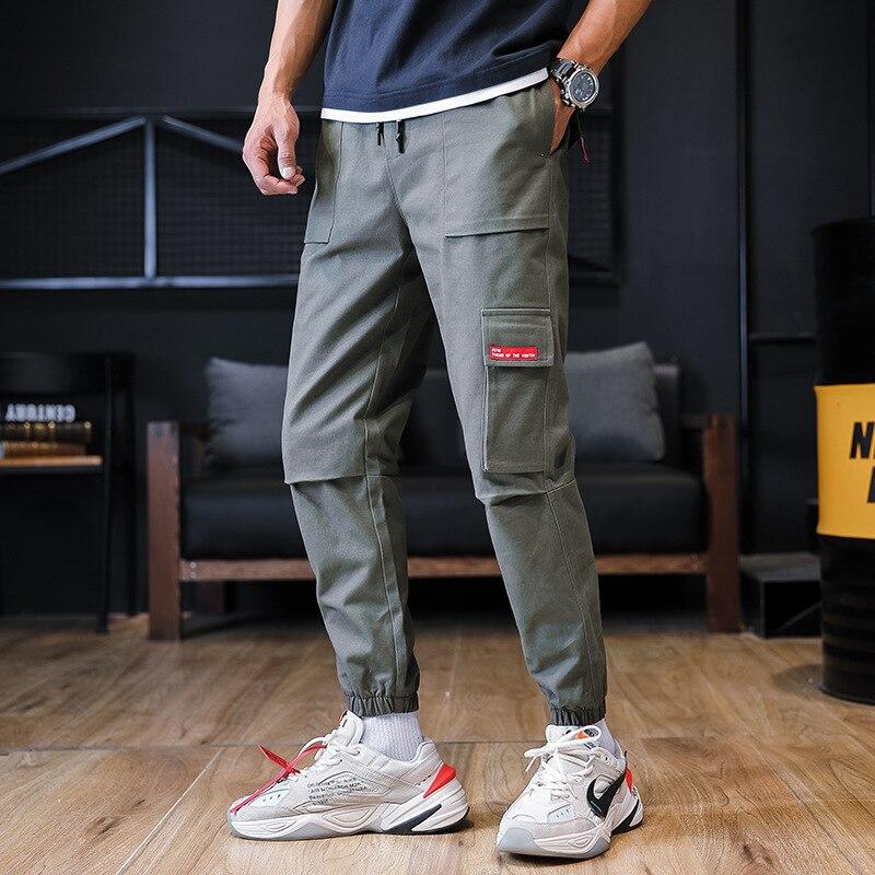 2019 Spring Bib Overall Men Popular Brand Loose Hip Hop Skinny Pants Casual Pants Athletic Pants Beam Leg Trousers Men's